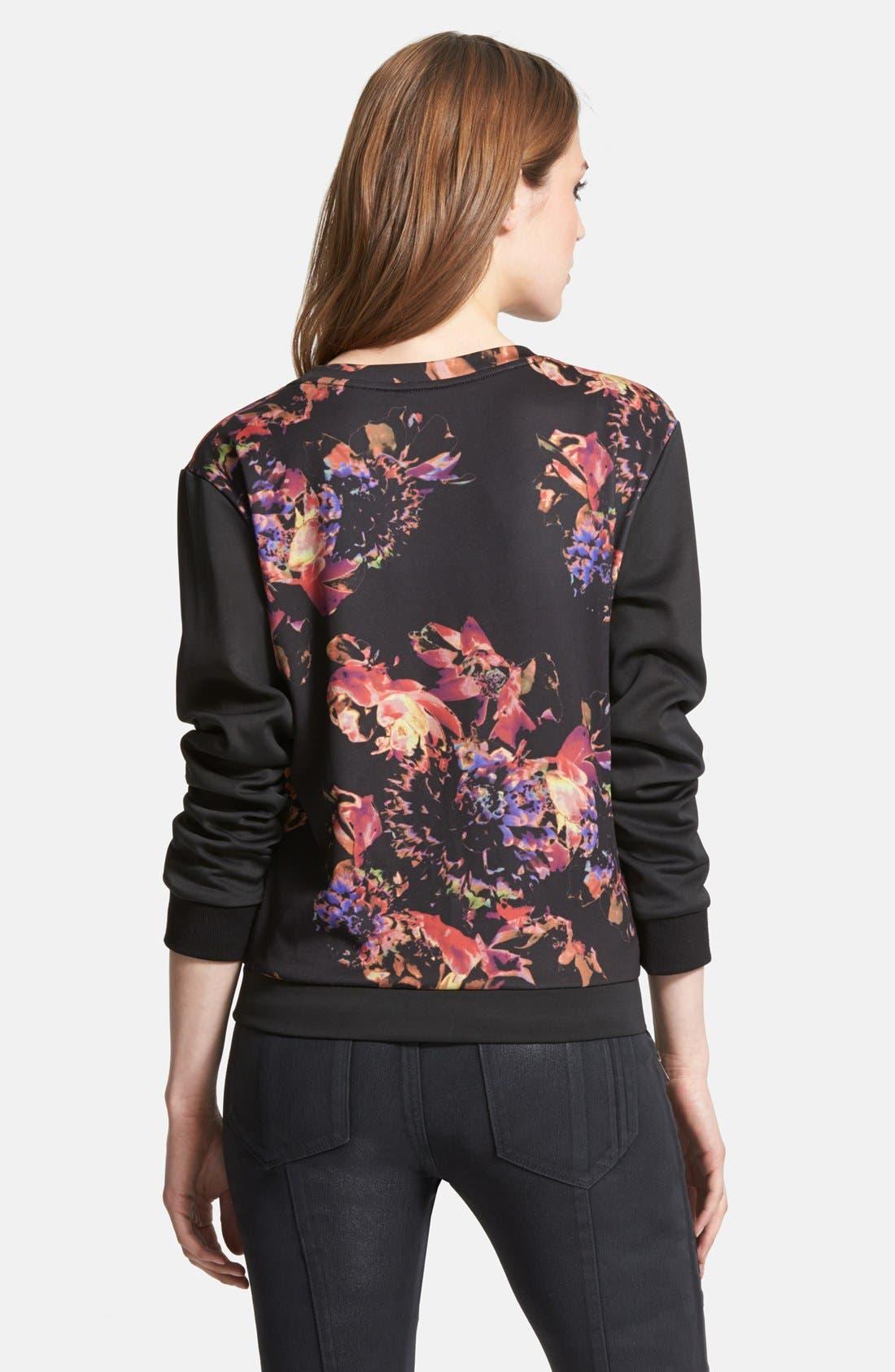Alternate Image 2  - Kiind of Floral Scuba Sweater