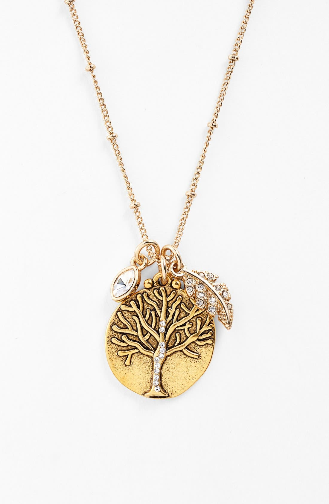 Sequin Tree of Life Talisman Necklace guWoUoTpbt