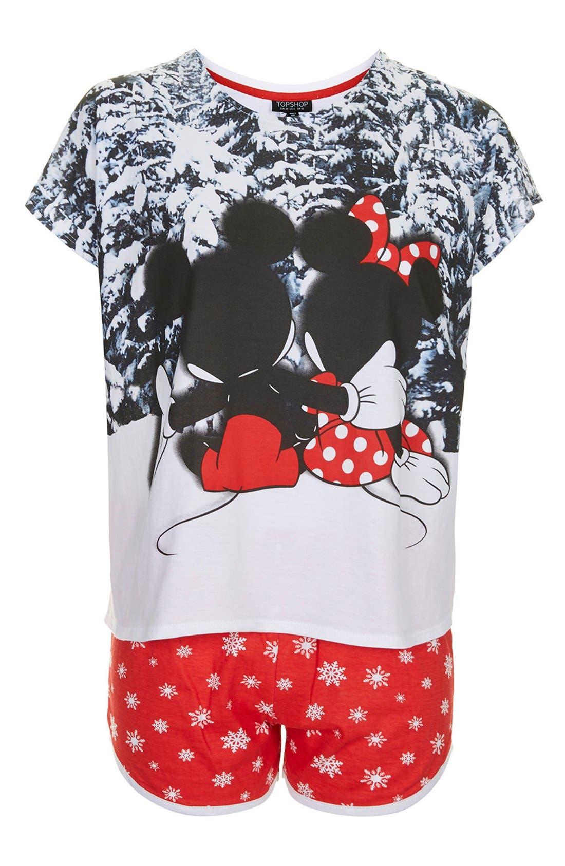 Alternate Image 3  - Topshop Mickey & Minnie Pajama Set