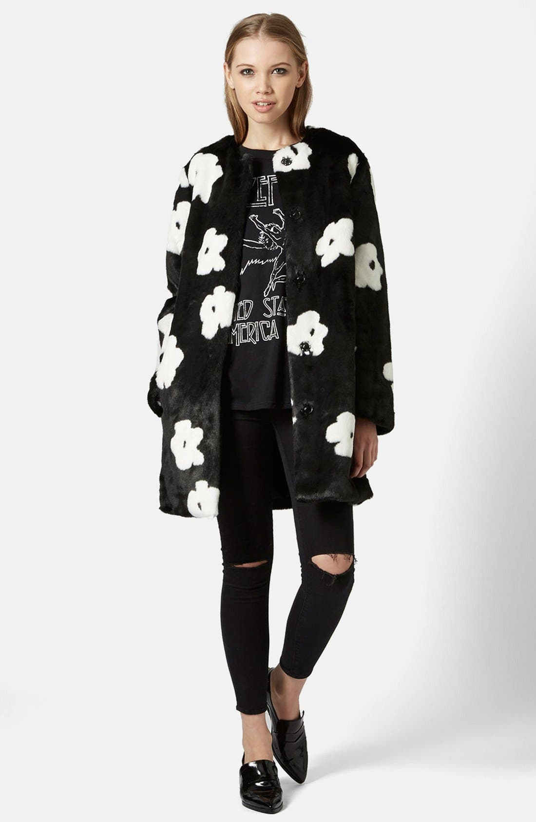 Alternate Image 5  - Topshop Daisy Faux Fur Coat