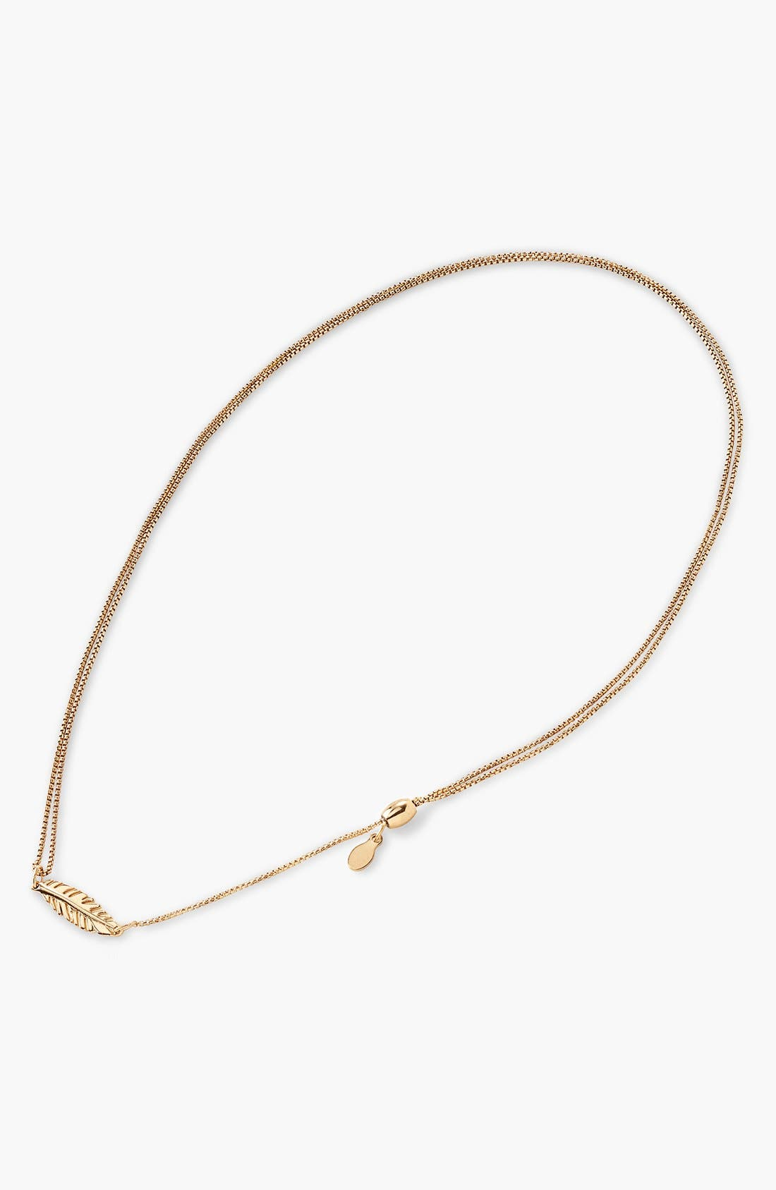Alternate Image 2  - Alex and Ani 'Providence' Pull Chain Feather Pendant Necklace