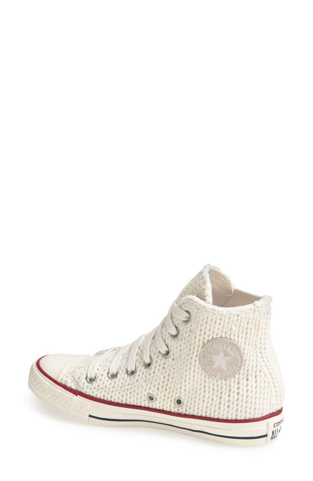 Alternate Image 2  - Converse Chuck Taylor® All Star® 'Winter Knit' High Top Sneaker (Women)