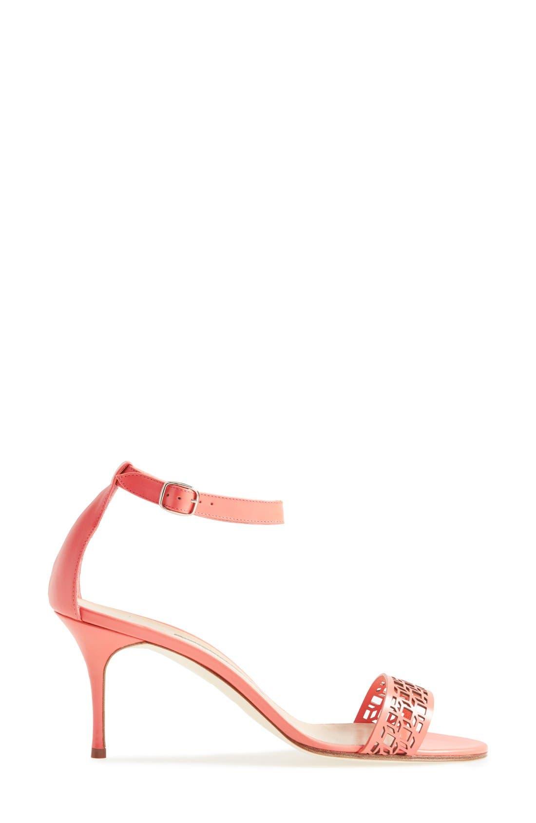 Alternate Image 4  - Manolo Blahnik 'Maurila' Leather Ankle Strap Sandal (Women)