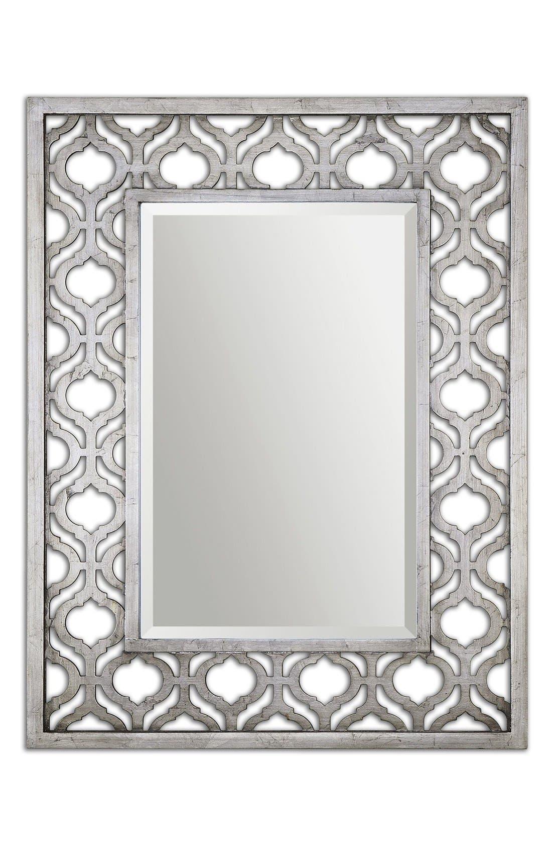 'Sorbolo' Silver Leaf Mirror,                             Main thumbnail 1, color,                             Silver
