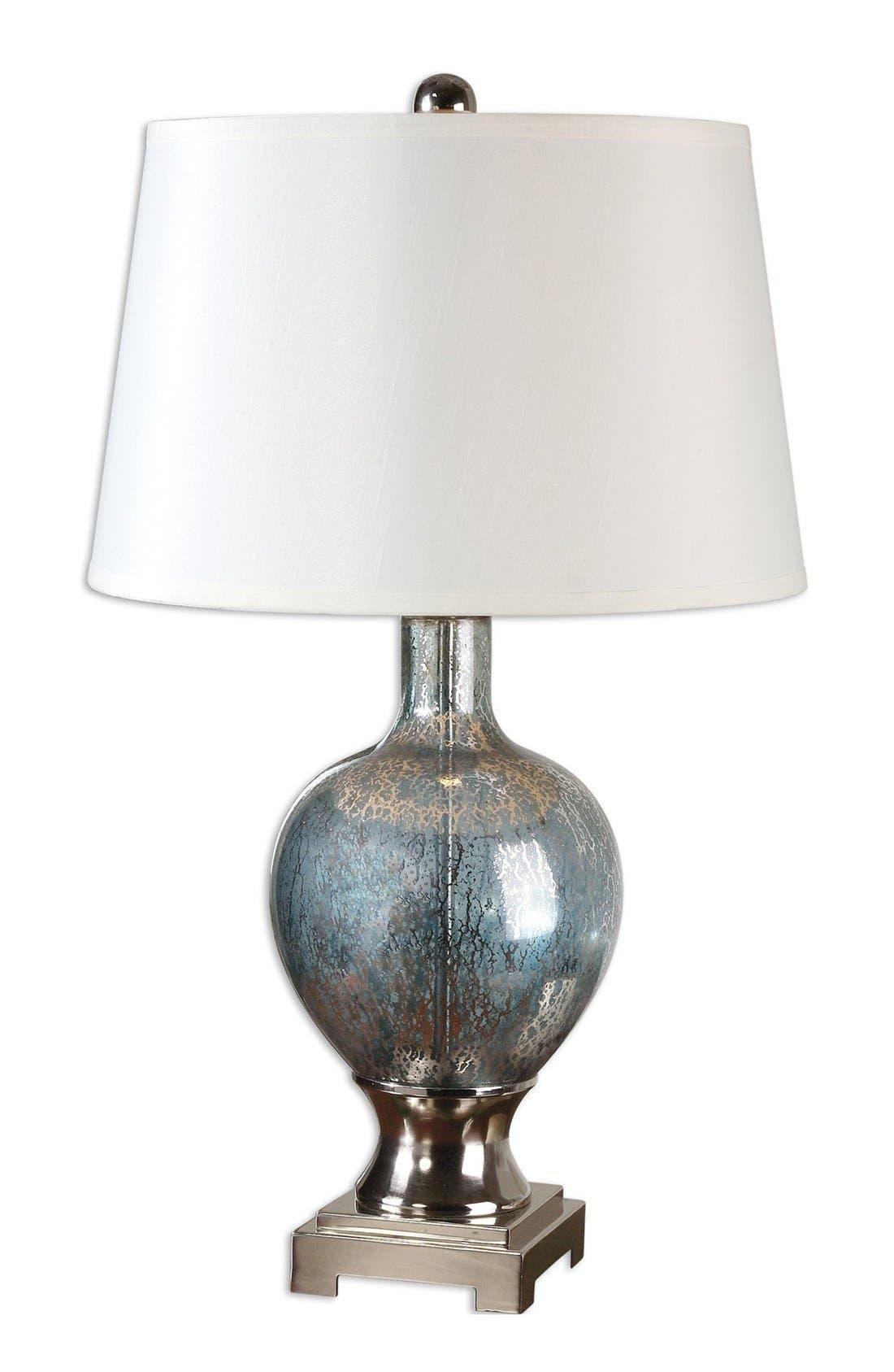 'Mafalda' Mercury Glass Table Lamp,                             Main thumbnail 1, color,                             Silver