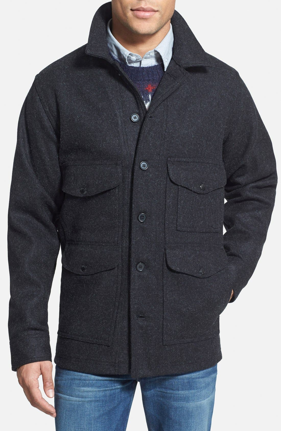 Filson 'Mackinaw Cruiser' Wool Jacket