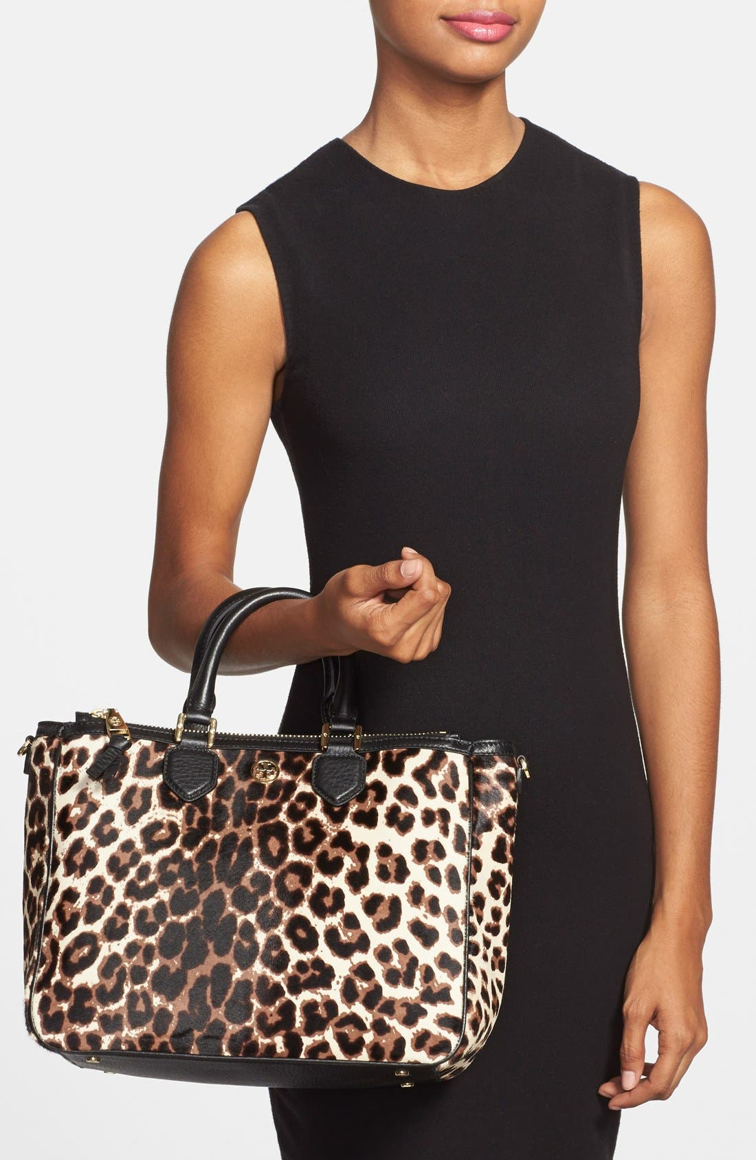 Alternate Image 2  - Tory Burch 'Robinson' Genuine Calf Hair & Leather Tote