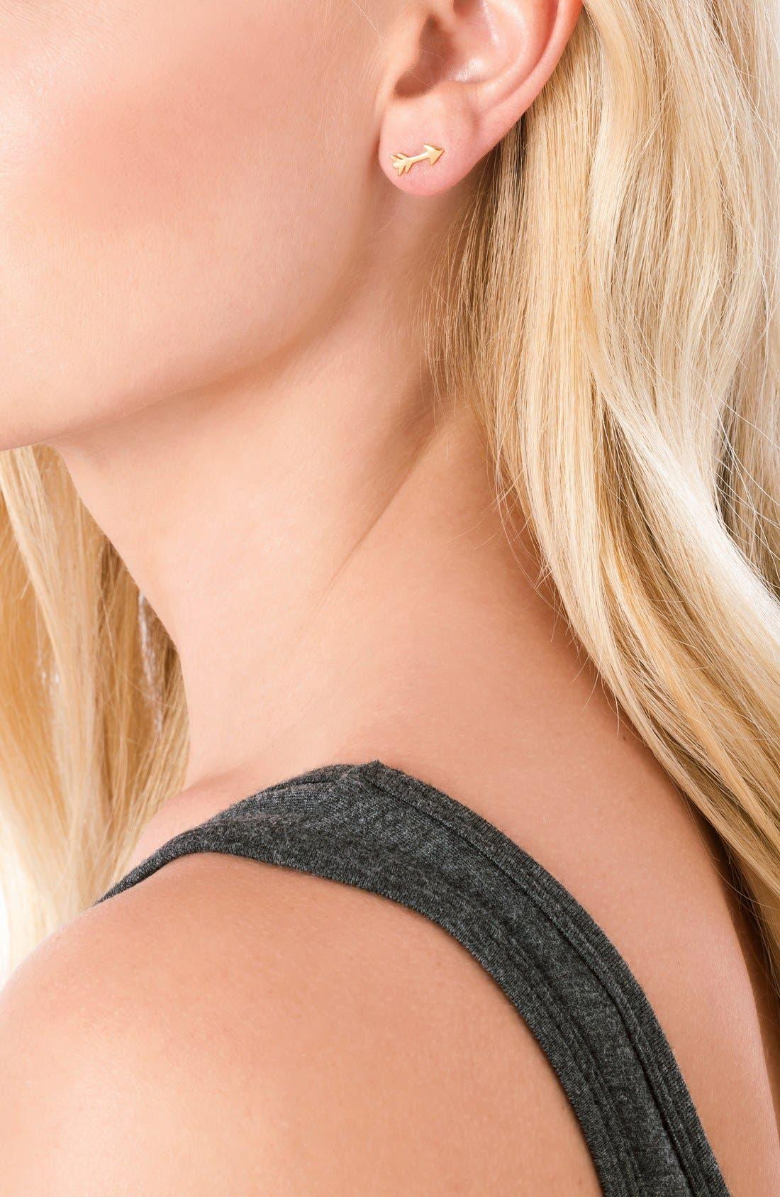 Alternate Image 2  - gorjana Arrow Stud Earrings
