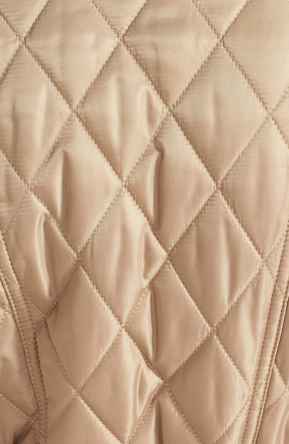 Alternate Image 3  - Vince Camuto Faux Suede Trim Belted Quilted Jacket