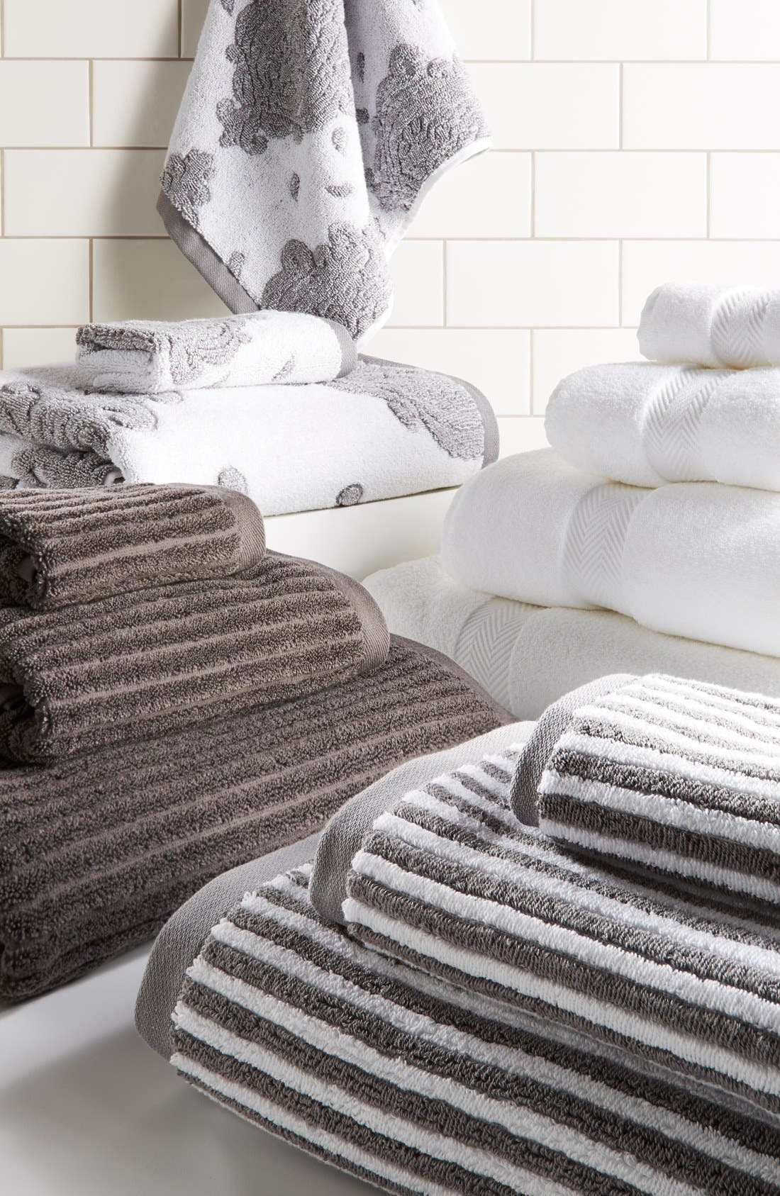 Alternate Image 2  - Nordstrom at Home 'Modern Rib' Bath Towel (2 for $39)
