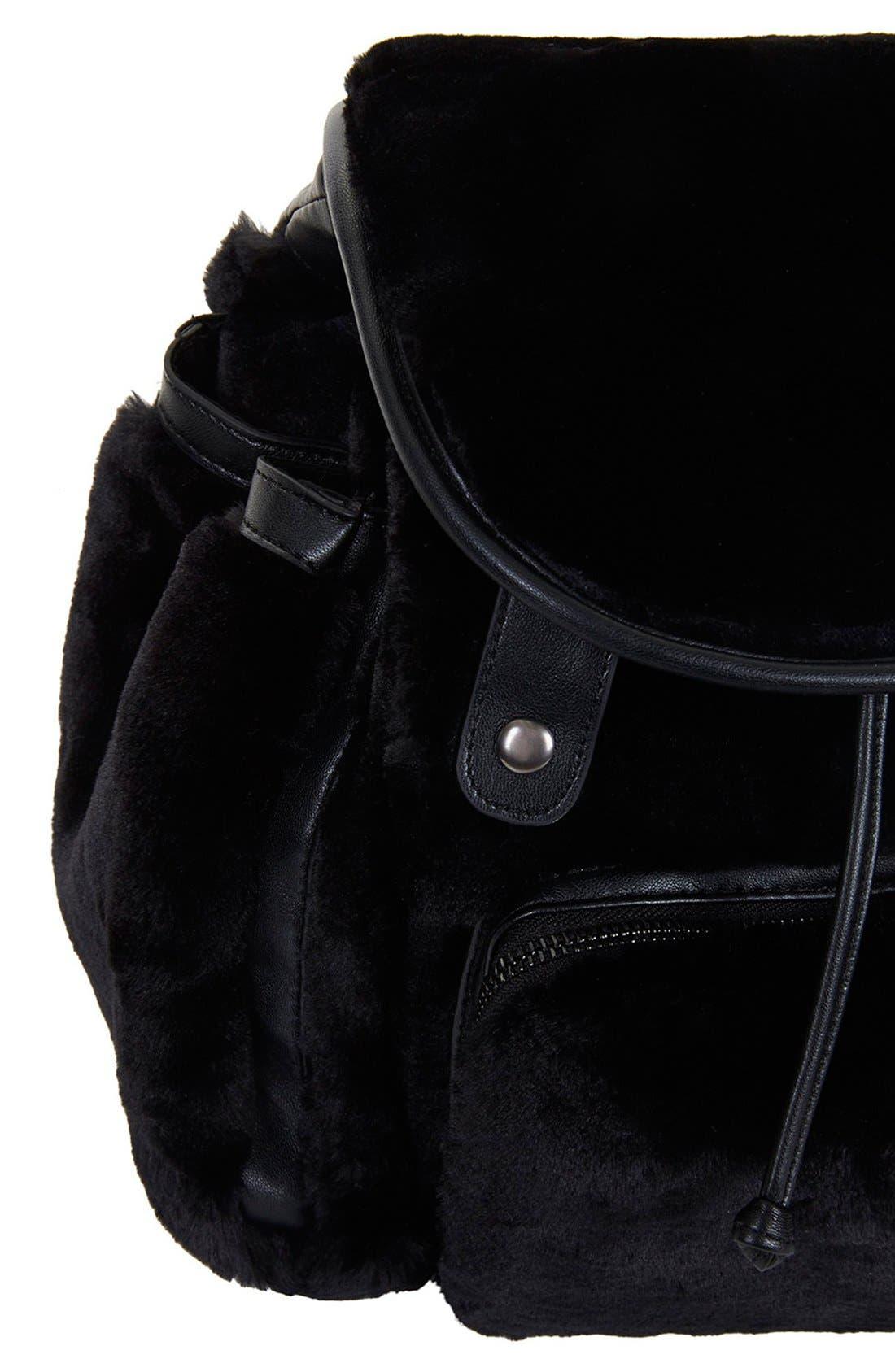 Alternate Image 3  - Topshop Faux Fur Backpack