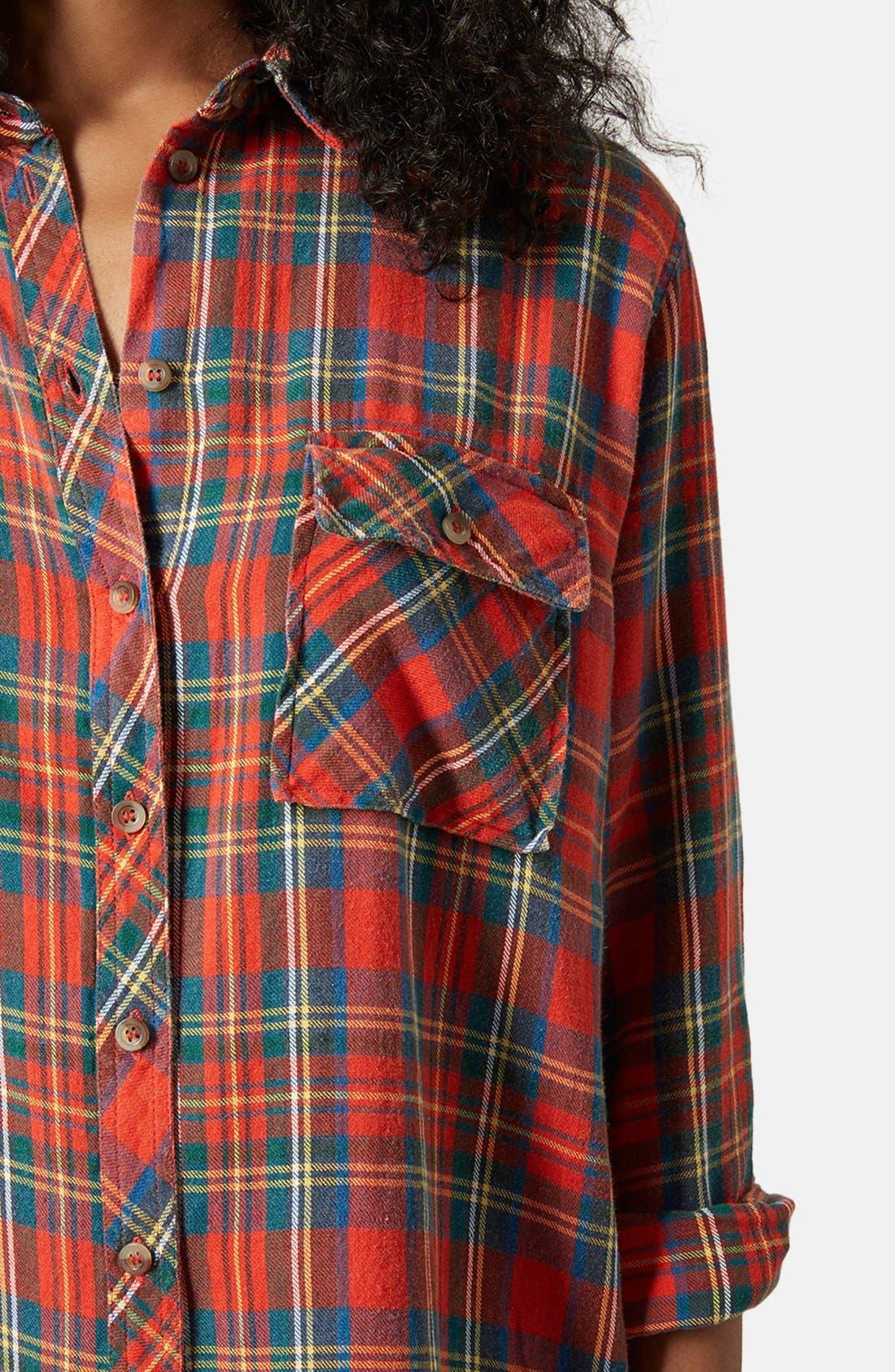 Alternate Image 4  - Topshop 'Marvin' Oversize Check Shirt