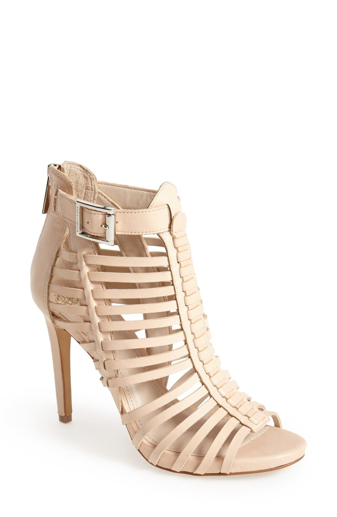 Alternate Image 1 Selected - Vince Camuto 'Remmie' Leather Cage Sandal (Women)