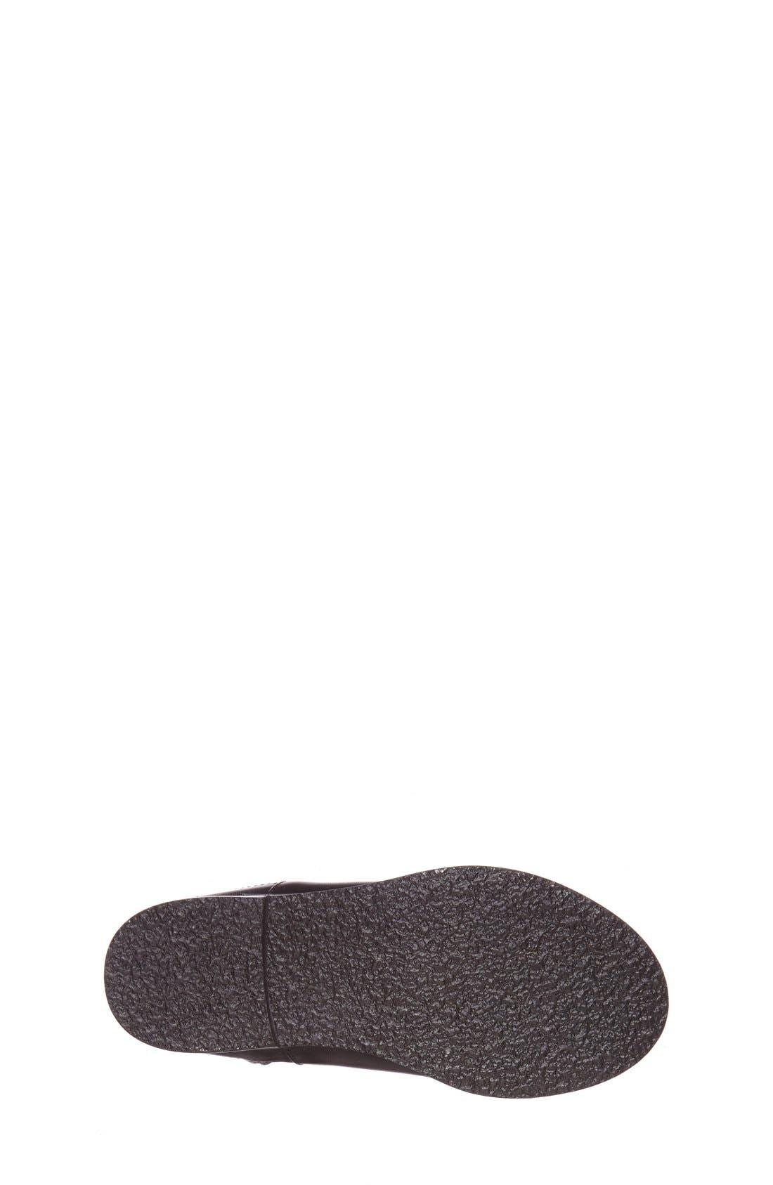 'Mini Richardson' Leather Boot,                             Alternate thumbnail 4, color,                             Black Leather