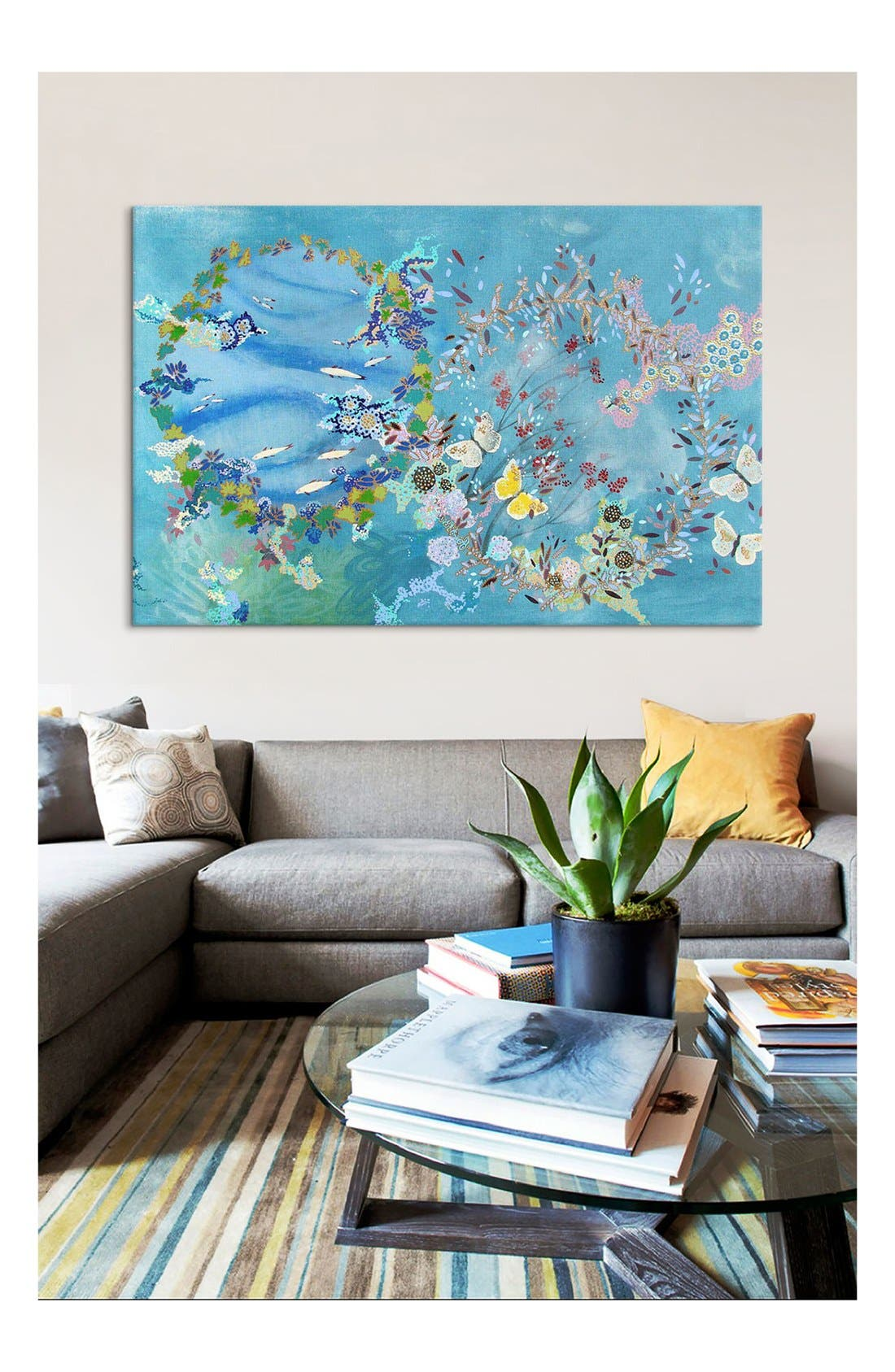 'Agua Y Aire - Lia Porto' Giclée Print Canvas Art,                             Alternate thumbnail 2, color,                             Blue/ Multi