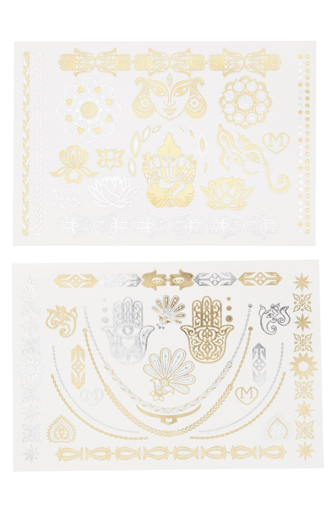 Alternate Image 1 Selected - Madness Accessories 'Nomad' Temporary Flash Tattoos (2-Pack)