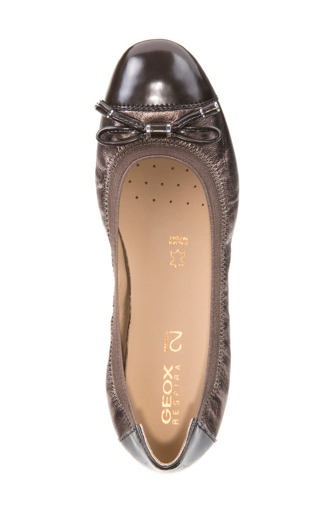Alternate Image 4  - Geox Lola Fit Cap Toe Ballet Flat (Women)