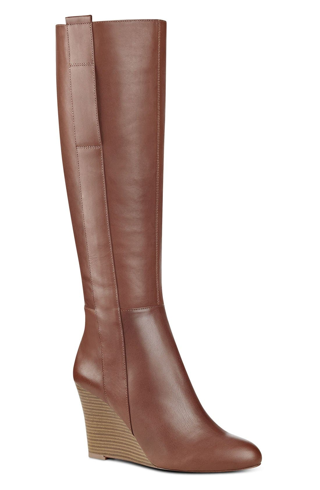 Alternate Image 1 Selected - Nine West Orsella Tall Wedge Boot (Women)