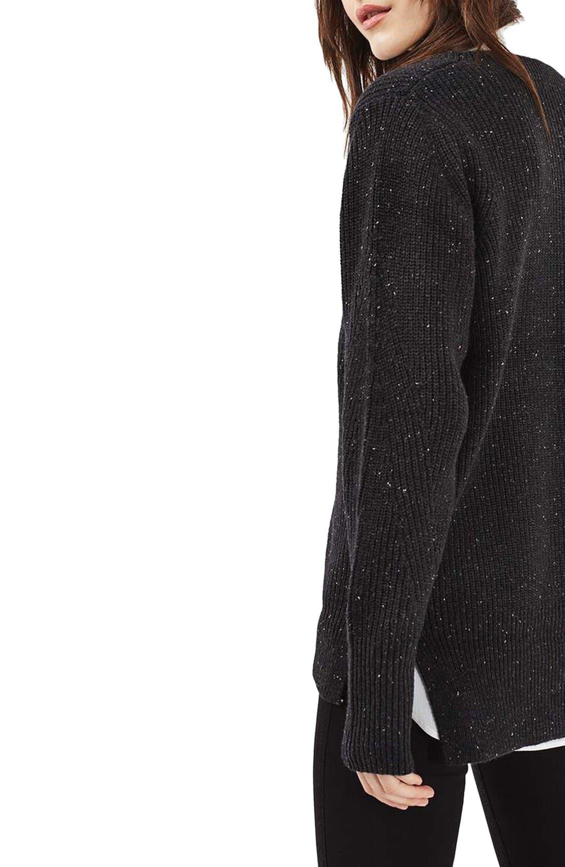 Alternate Image 3  - Topshop Fisherman Rib Sweater