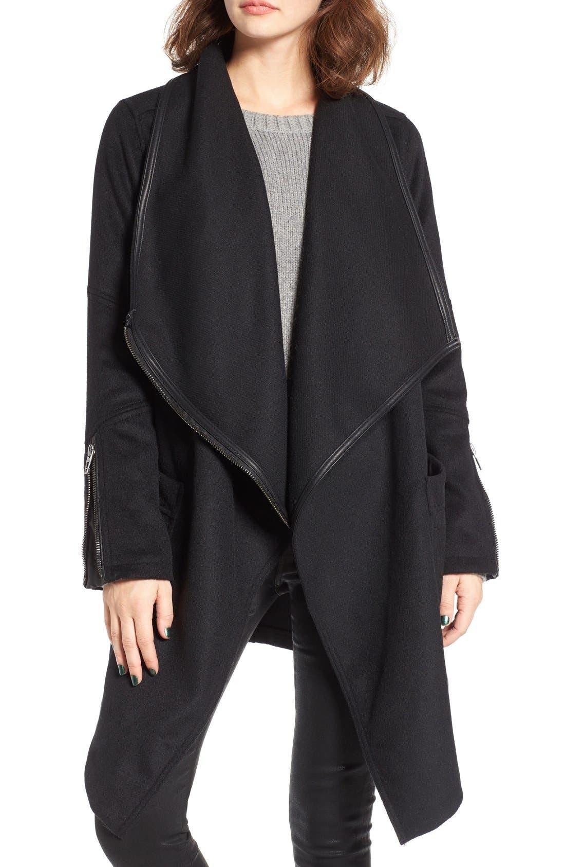 Main Image - BLANKNYC Blackout Wool Blend Drape Jacket