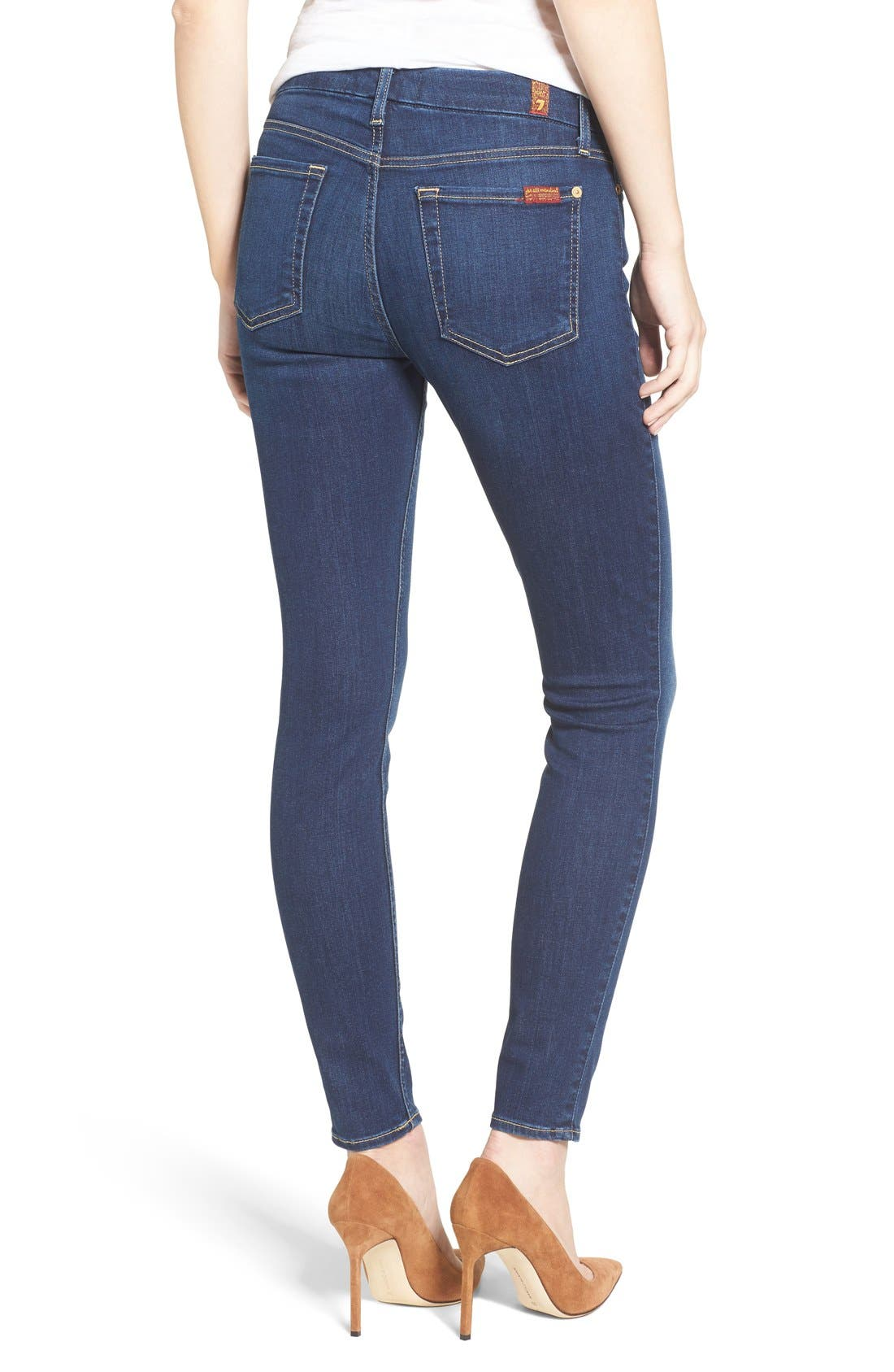 Alternate Image 6  - 7 For All Mankind® 'b(air) - The Ankle' Skinny Jeans (Duchess 2)