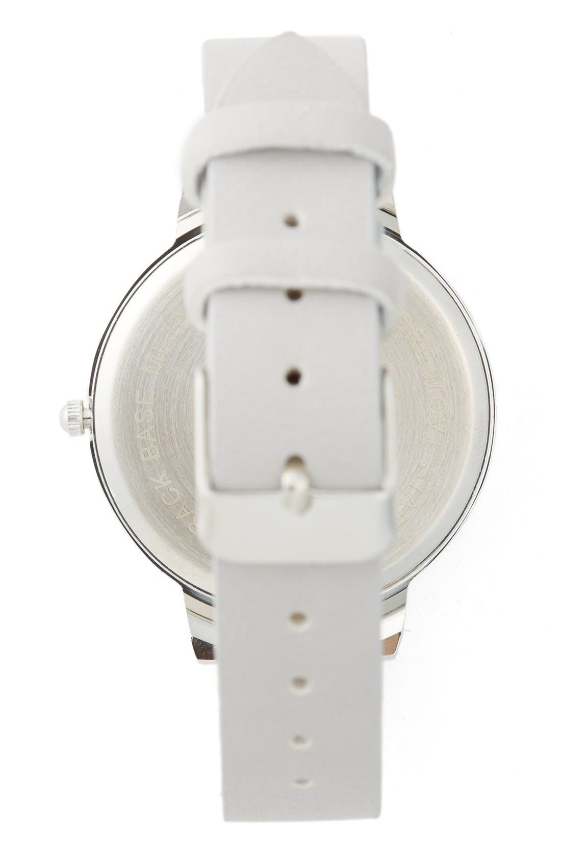 Round Face Watch, 35mm,                             Alternate thumbnail 2, color,                             Grey/ Silver