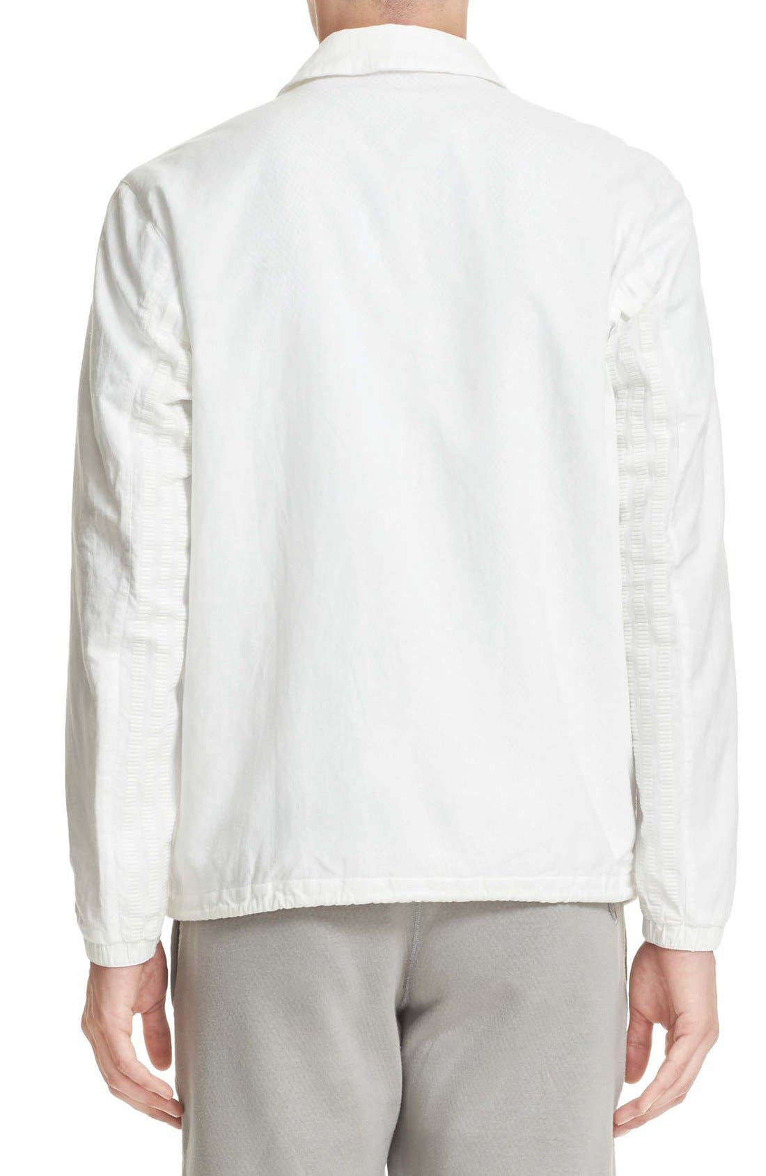Cotton & Linen Coach Jacket,                             Alternate thumbnail 2, color,                             Off White