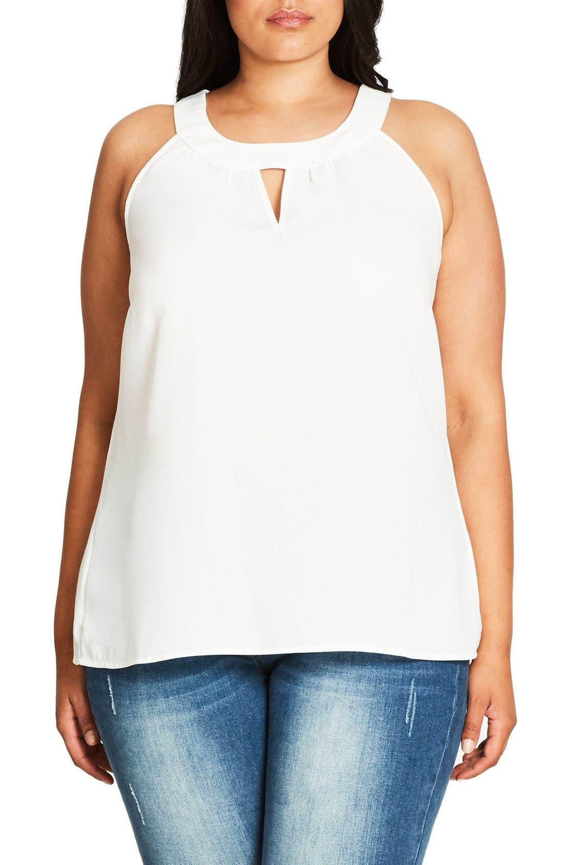 City Chic Lace Deluxe Shirt (Plus Size)