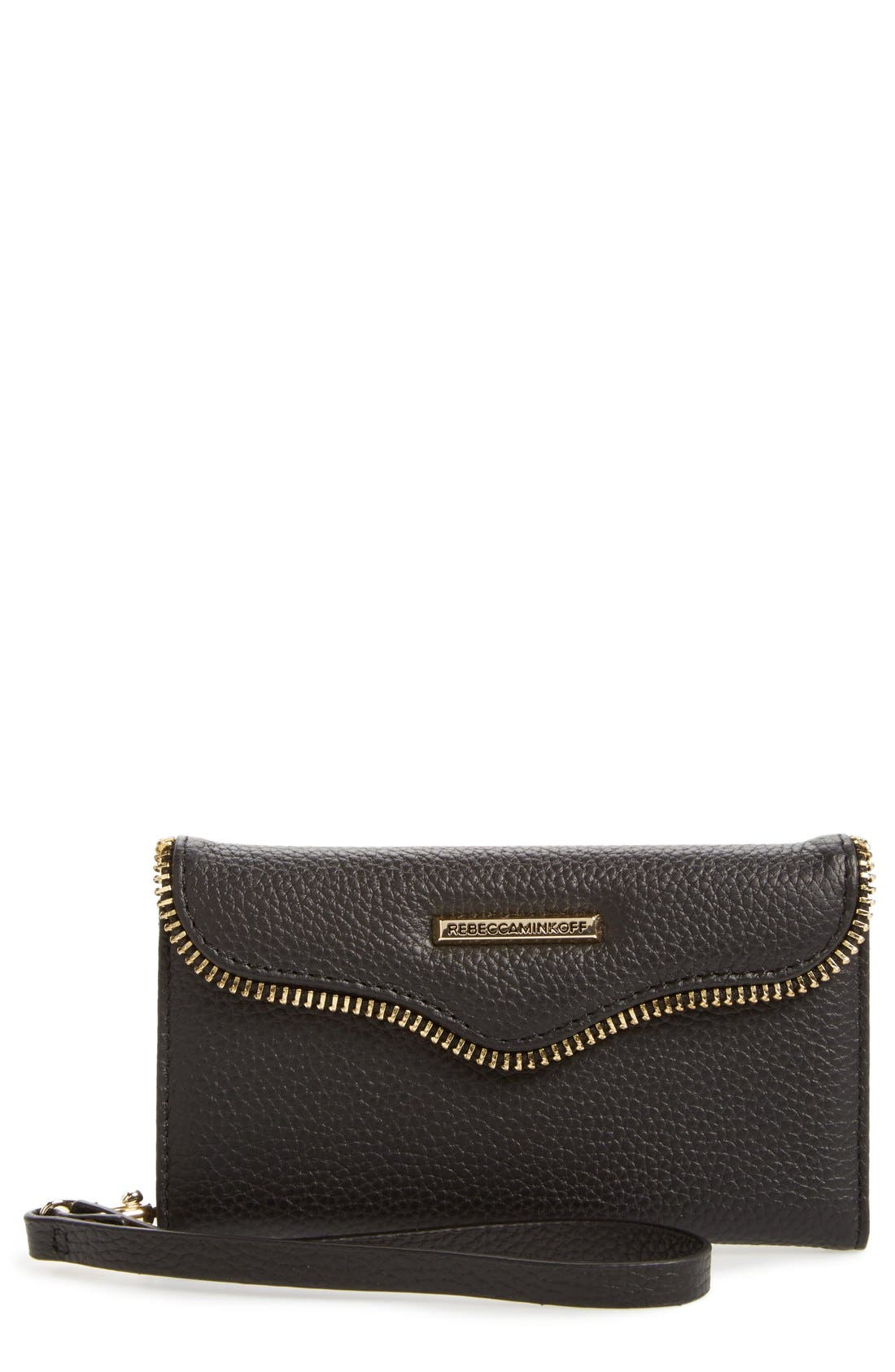 REBECCA MINKOFF Leather iPhone 7 Wristlet