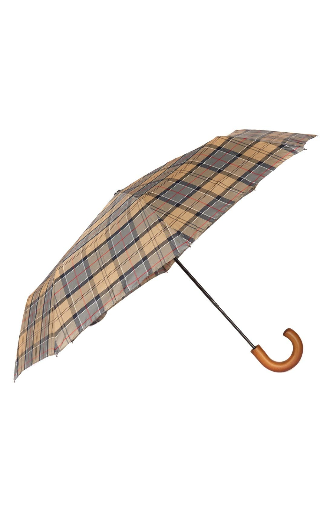 Barbour Telescoping Tartan Umbrella