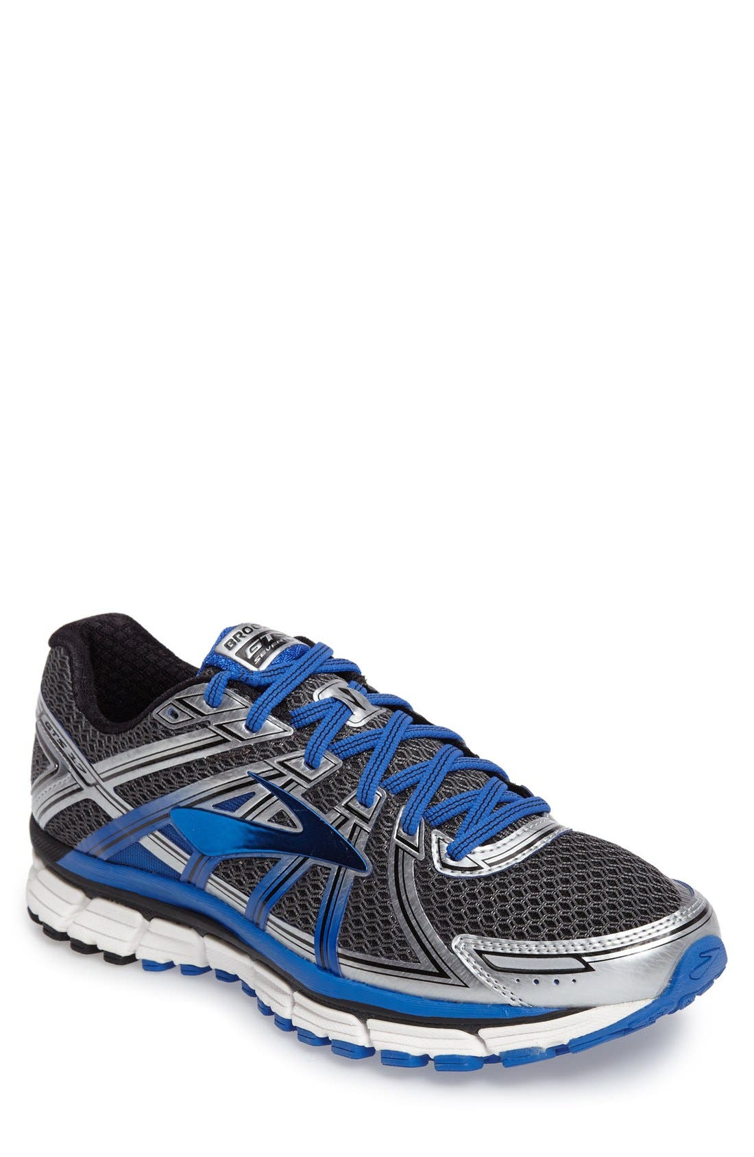 Adrenaline GTS 17 Running Shoe,                             Main thumbnail 1, color,                             Anthracite/ Blue/ Silver