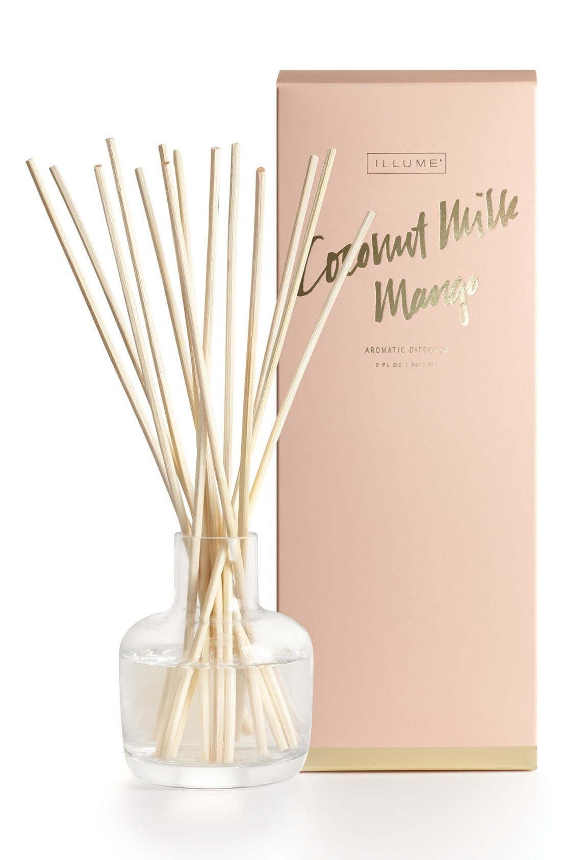 Coconut Milk Mango Reed Diffuser,                             Main thumbnail 1, color,                             Coconut Milk/ Mango