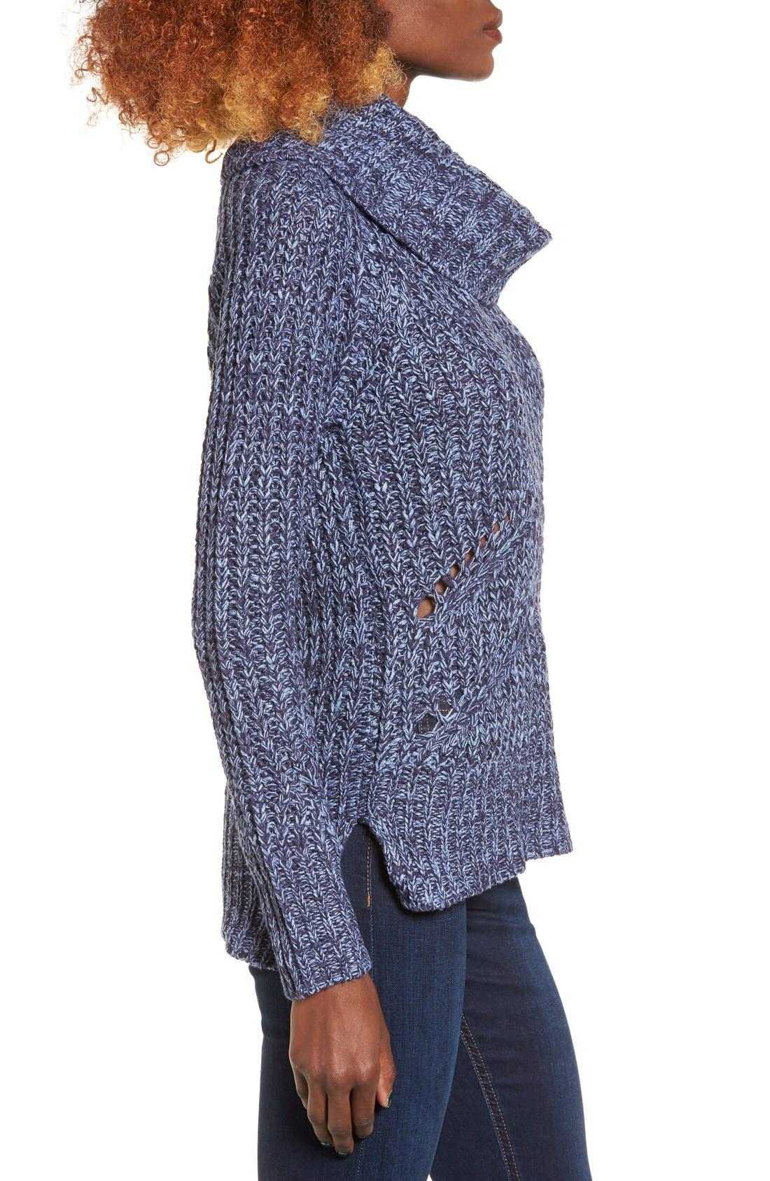 Alternate Image 3  - Love by Design Marled Cowl Neck Pullover