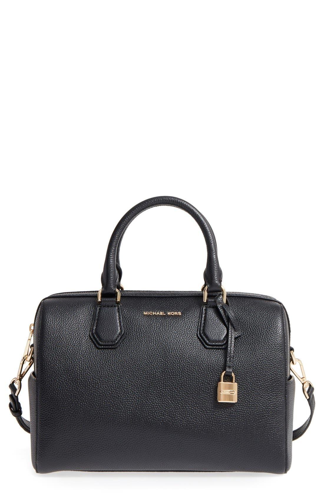 Medium Mercer Duffel Bag,                         Main,                         color, Black/ Gold