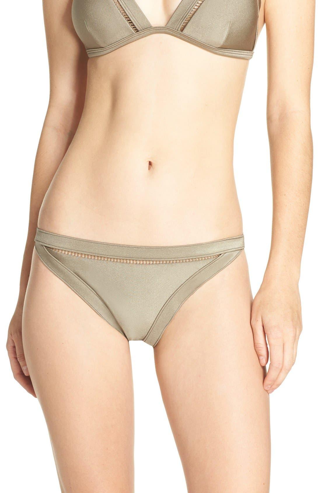 Bikini Bottoms,                         Main,                         color, Khaki