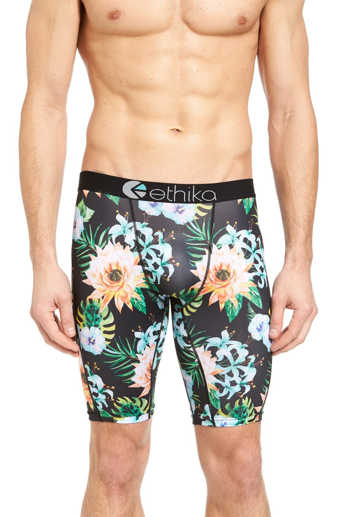 Main Image - Ethika Garden Stretch Cotton Boxer Briefs