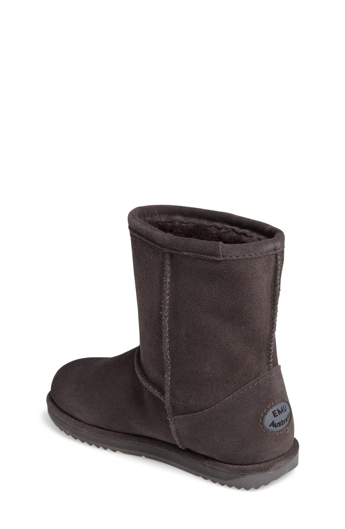 Brumby Waterproof Boot,                             Alternate thumbnail 2, color,                             Charcoal Suede