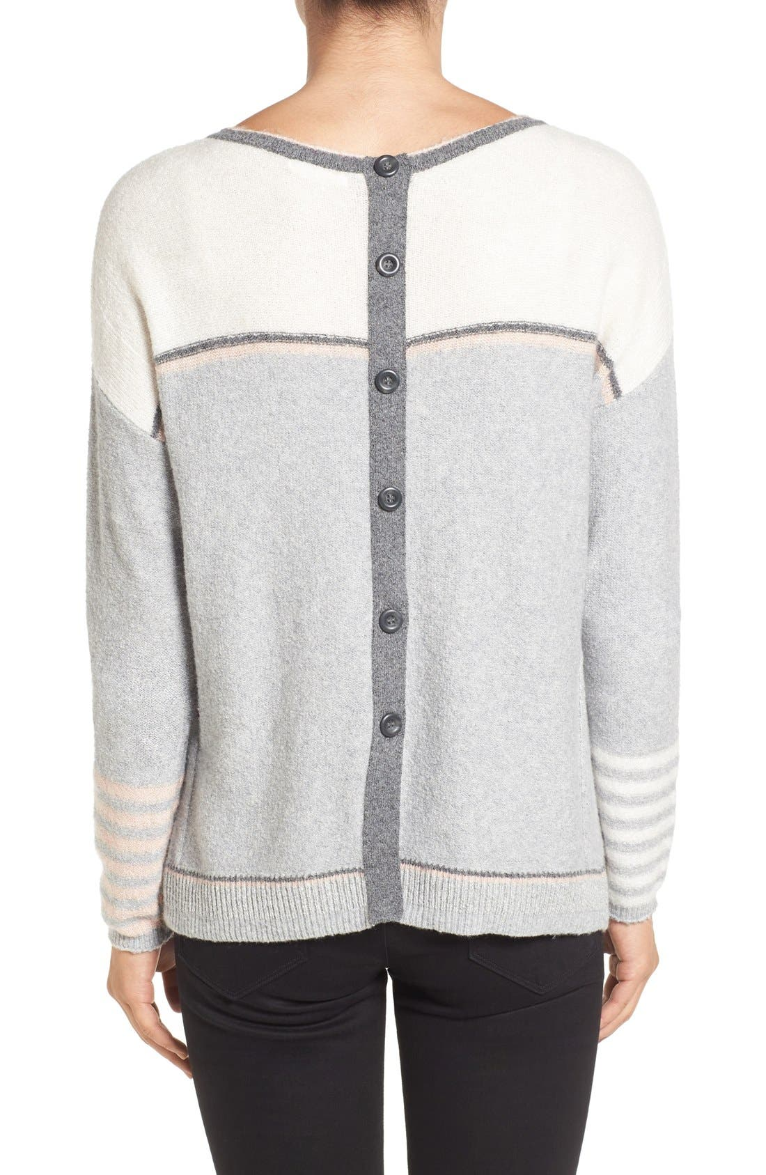 Alternate Image 2  - Caslon® Button Back Sweater (Regular & Petite)