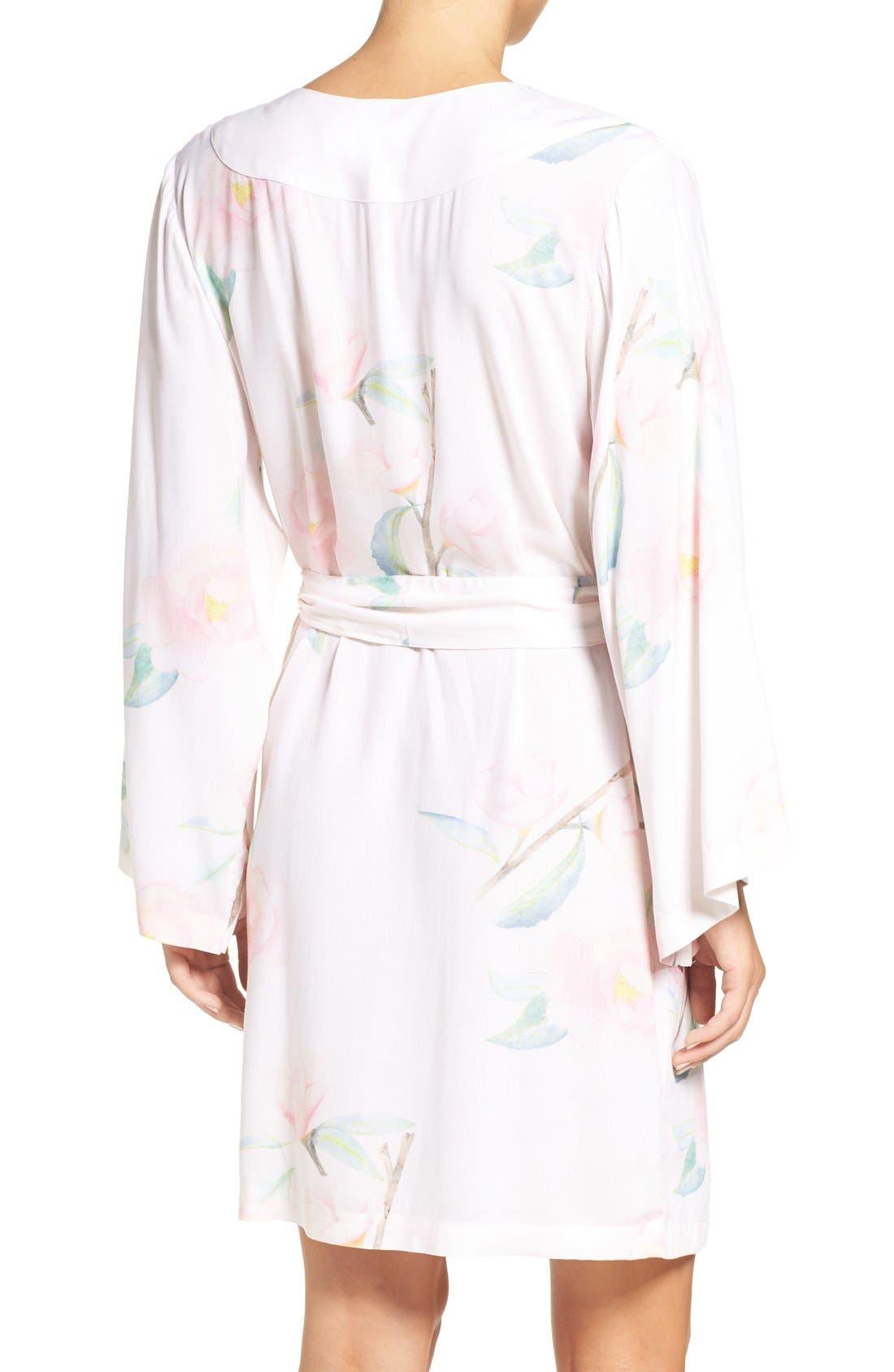 Alternate Image 2  - Plum Pretty Sugar Oracle Floral Print Kimono Robe