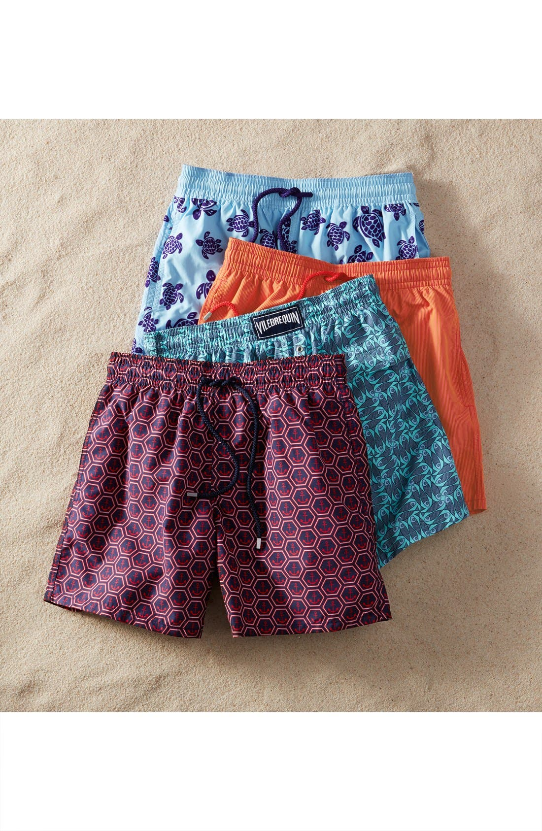 Anchor Print Swim Trunks,                             Alternate thumbnail 6, color,