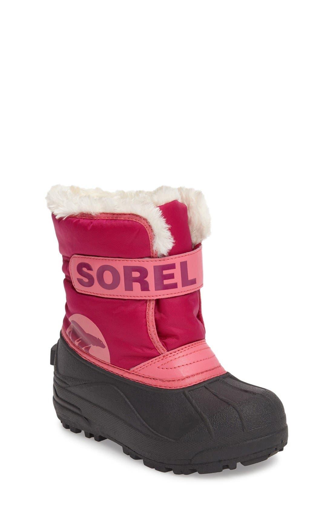 'Snow Commander' Boot,                             Main thumbnail 1, color,                             Tropic Pink/ Deep Blush