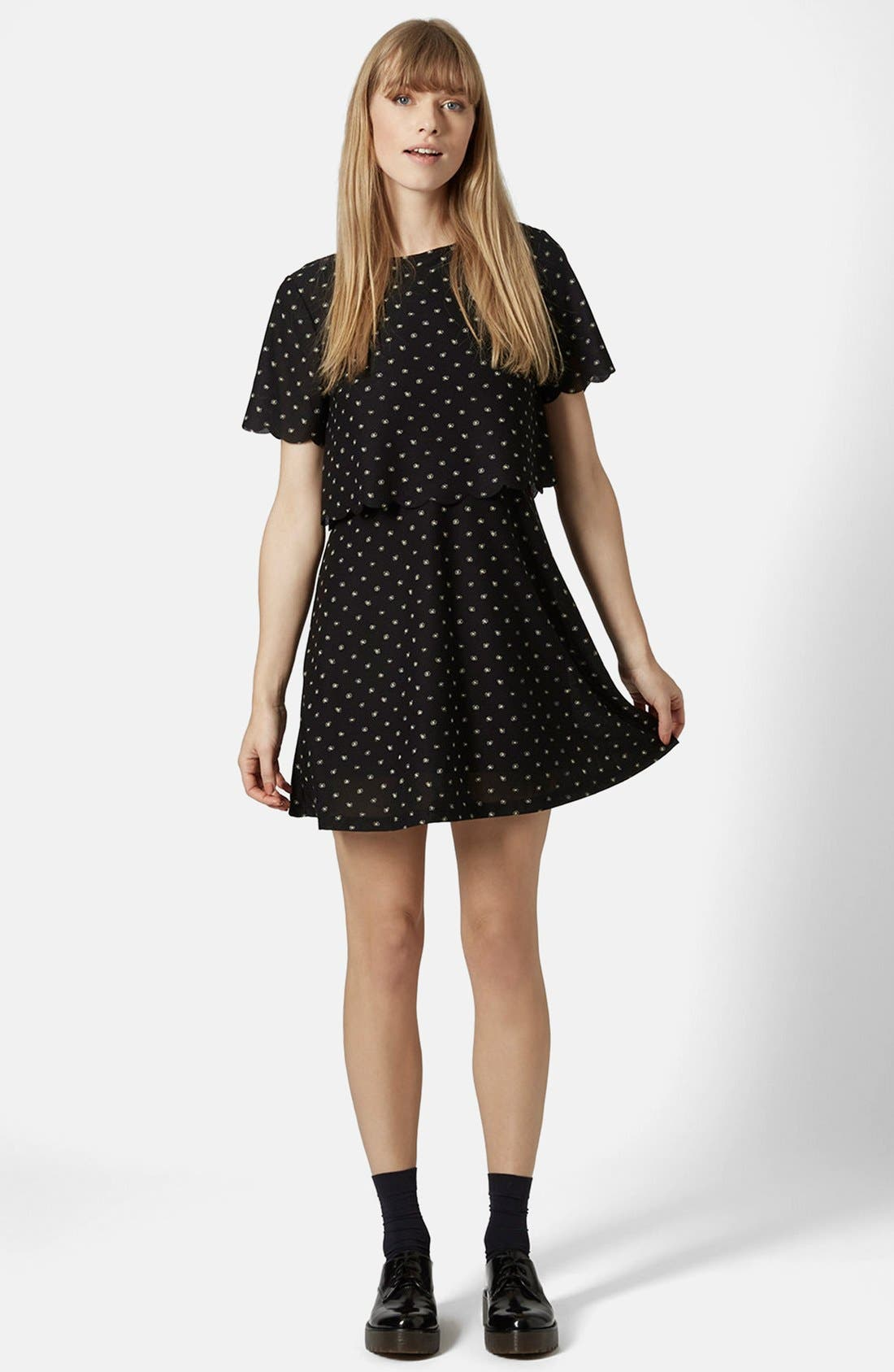 Alternate Image 1 Selected - Topshop Daisy Overlay Dress