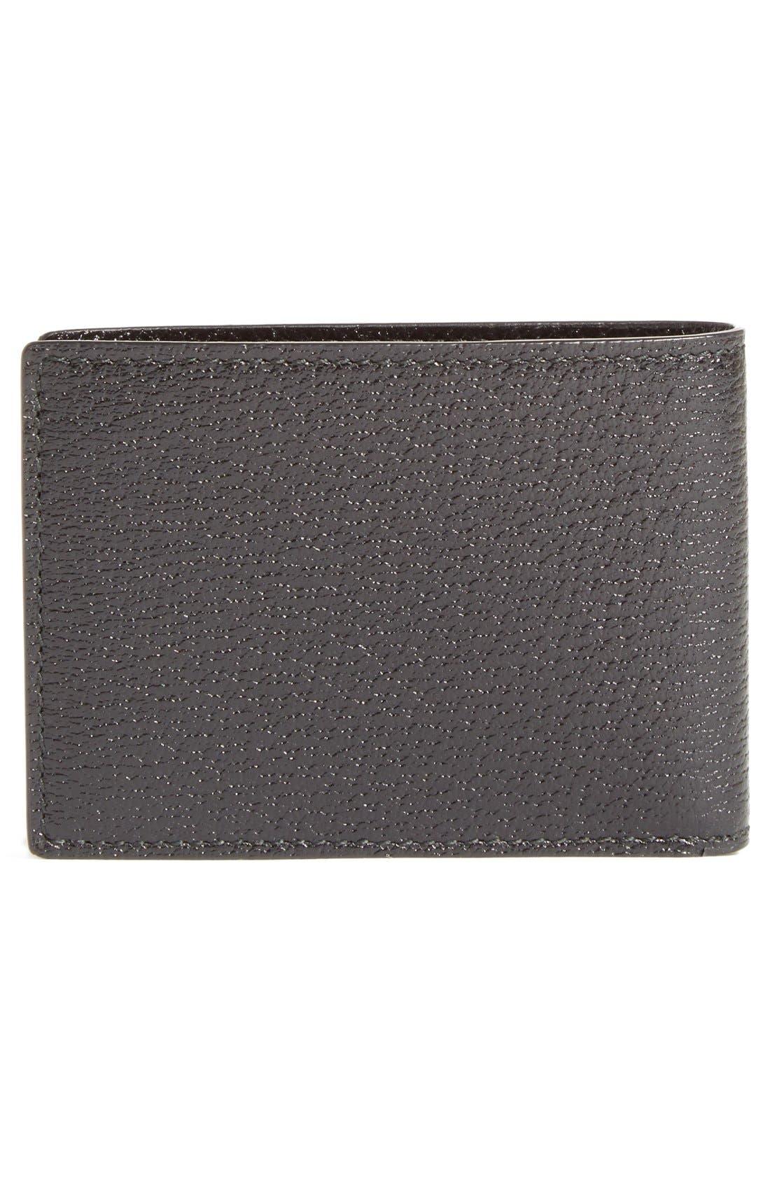 Marmont Leather Wallet,                             Alternate thumbnail 3, color,                             Black