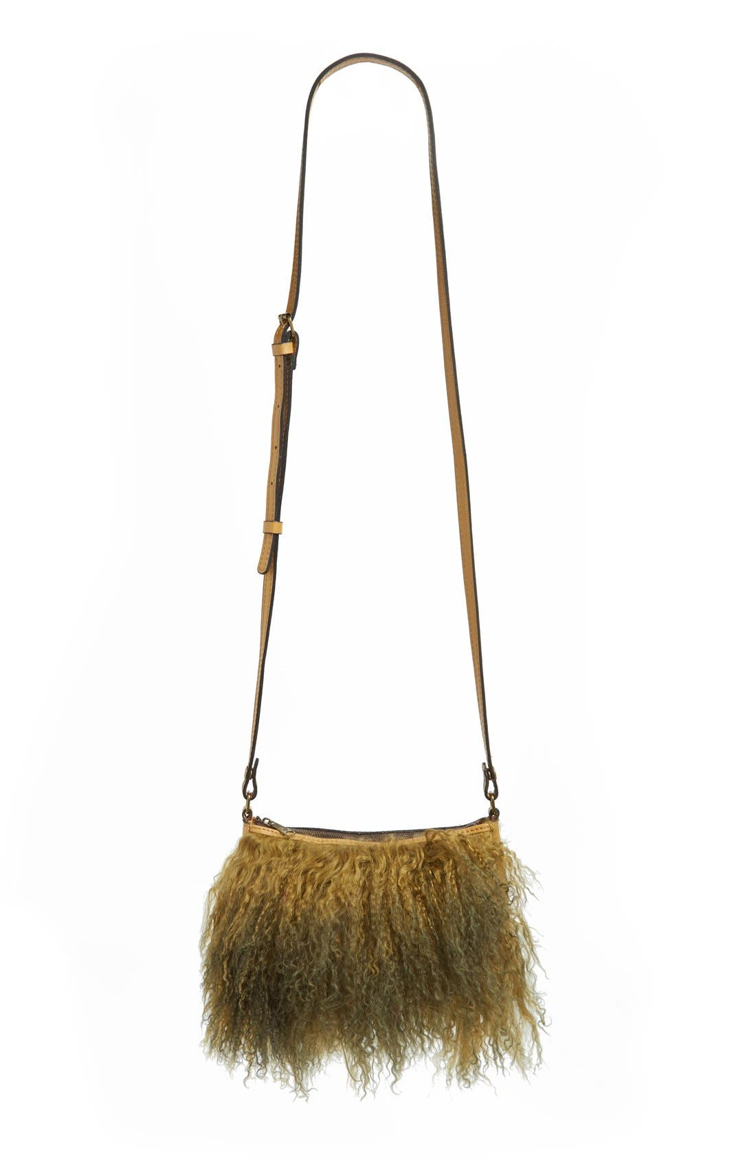 Main Image - Patricia Nash Small Paulo Genuine Shearling Crossbody Bag