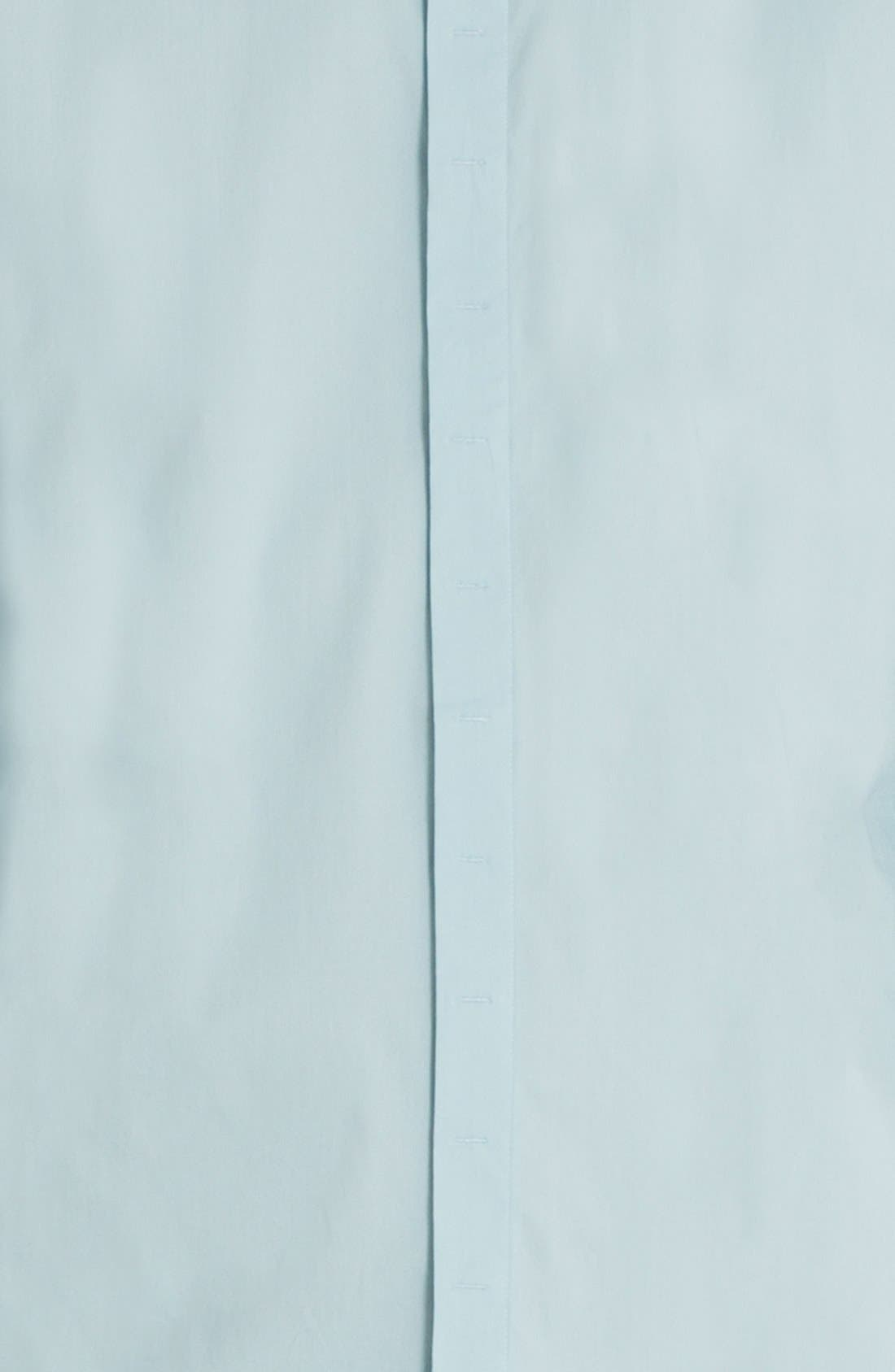 'Peace Train' Trim Fit Woven Shirt,                             Alternate thumbnail 5, color,                             Sterling Blue
