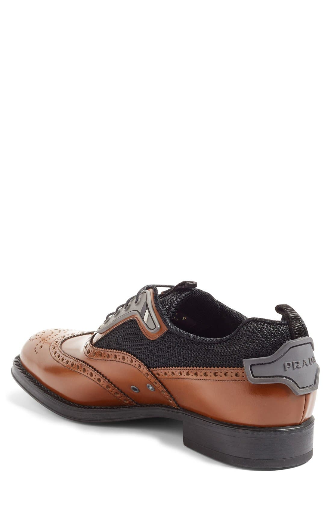 Wingtip,                             Alternate thumbnail 2, color,                             Tobacco/ Nero Leather