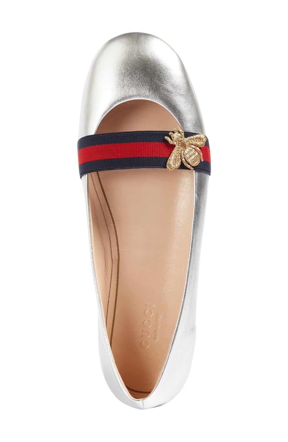 Alternate Image 3  - Gucci 'Bayadere' Ballerina Flat (Women)