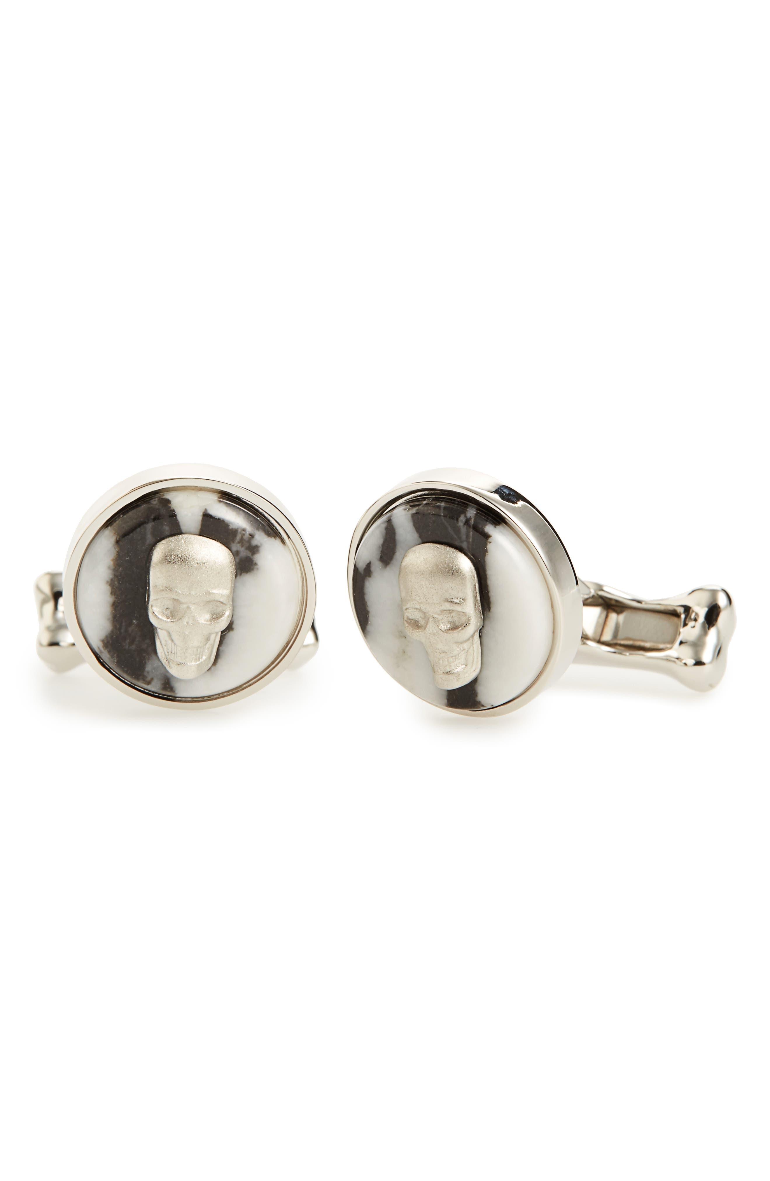 Alexander McQueen Skull Cuff Links