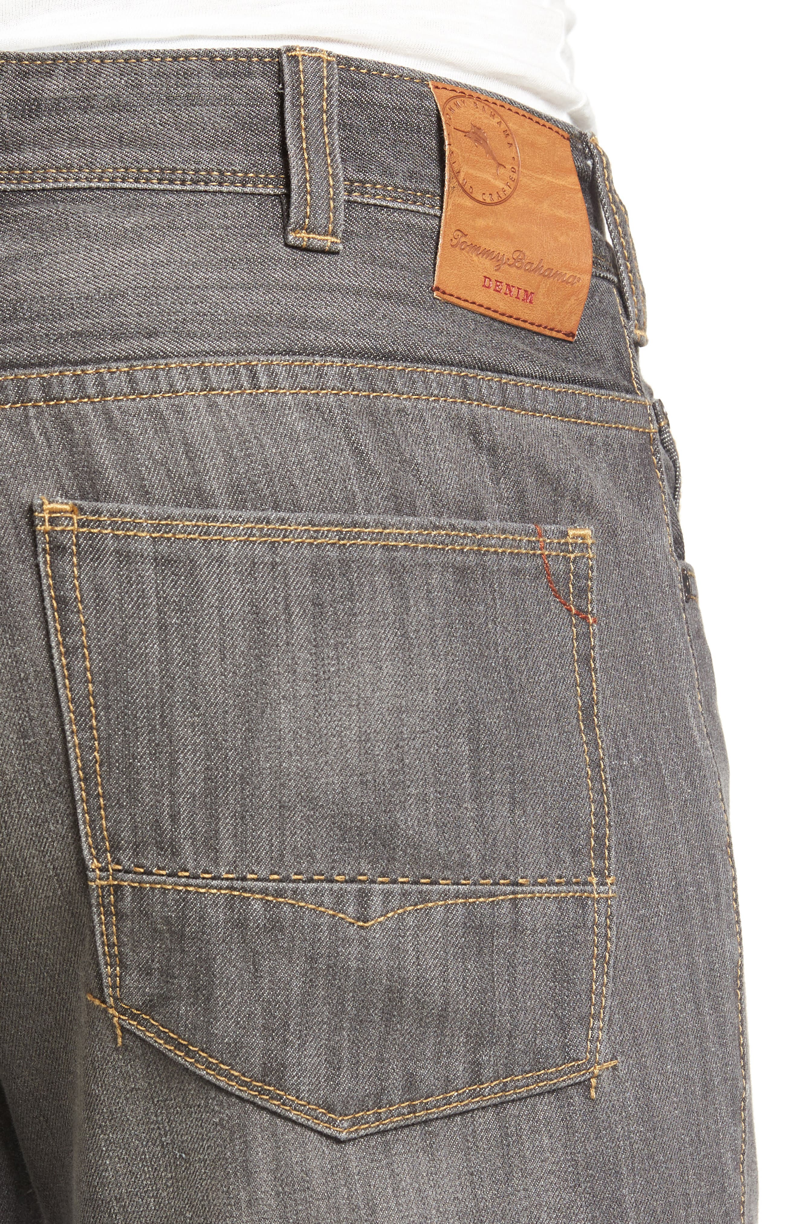 Barbados Straight Leg Jeans,                             Alternate thumbnail 4, color,                             Vintage Grey Wash