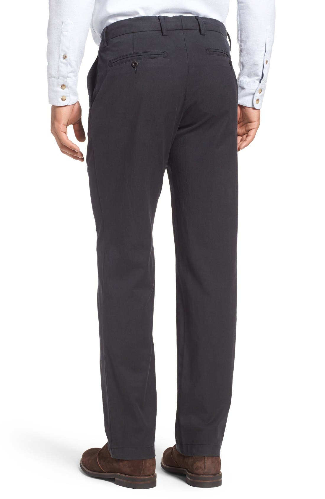 Offshore Flat Front Pants,                             Alternate thumbnail 2, color,                             Black
